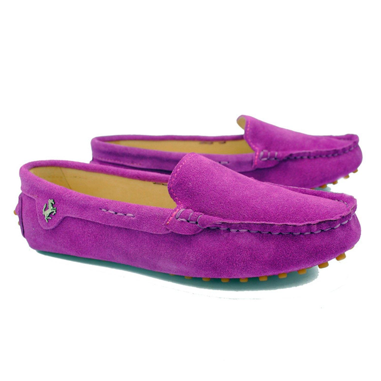 Minishion TYB9601 Women's Round Toe Loafers Boat Shoes Ballet Flats US|Amaranth Loafers B072Q2NR4Q 5.5 B(M) US|Amaranth Flats d69629