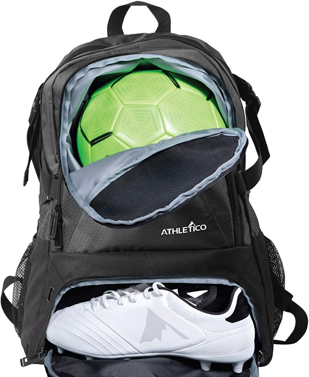 AUUXVA Backpack Soccer Ball Pattern Durable Laptop Travel Shoulder Bag Hiking for Women Girls Men Boys