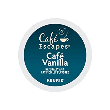 Cafe Escapes Cafe Vanilla, K-Cups, 96 Count: Amazon.com: Grocery ...