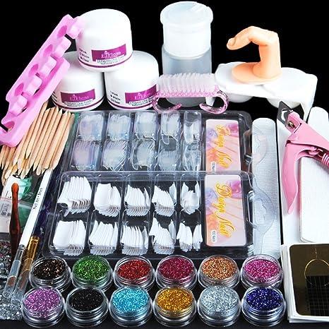 Amazon.com: Fashion Gallery Manicure Kit Nail Tips False Nails Nail Art Glitter Decoration by FASHION GALLERY: Beauty
