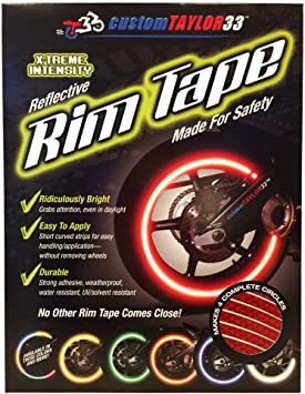 customTAYLOR33 24 Rim Size Must select your rim size All Vehicles Red High Intensity Grade Reflective Copyrighted Safety Rim Tapes