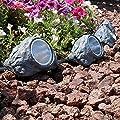 Solar-Powered Outdoor Rock Garden 1 Light Flood/Spot Light Warm White LEDs Illuminate Deck Yard Patio Paths Figurines