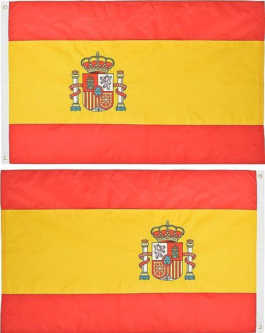 AES 3 x 5 Bordado España Español país Doble Cara 220D Nylon ...