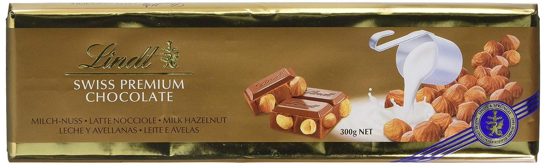 Lindt Tableta de Chocolate con Leche con Avellanas Enteras - 300 gr: Amazon.es: Alimentación y bebidas