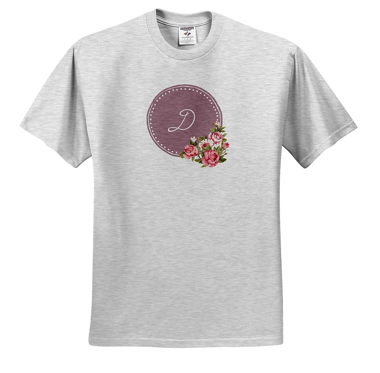 Image of D Monogram Monogram T-Shirts 3dRose Gabriella B