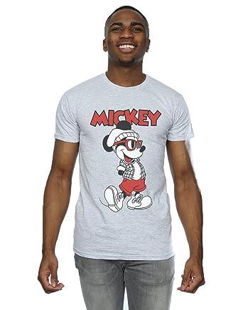 bebaeb09c Disney Men's Mickey Mouse Hipster T-Shirt XXX-Large Heather Grey