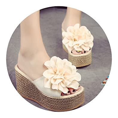 6aaebef8d59344 New-Loft Mules Clogs Garden Handmade Artificial Pearl Slippers Jelly Color  Casual Beach Sandals