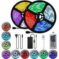 ZIQIAN 32.8ft Led Strip Lights, 10M Ultra Long RGB 5050 Color Changing LED Light Strips Kit with 44 Keys Ir Remote Led…