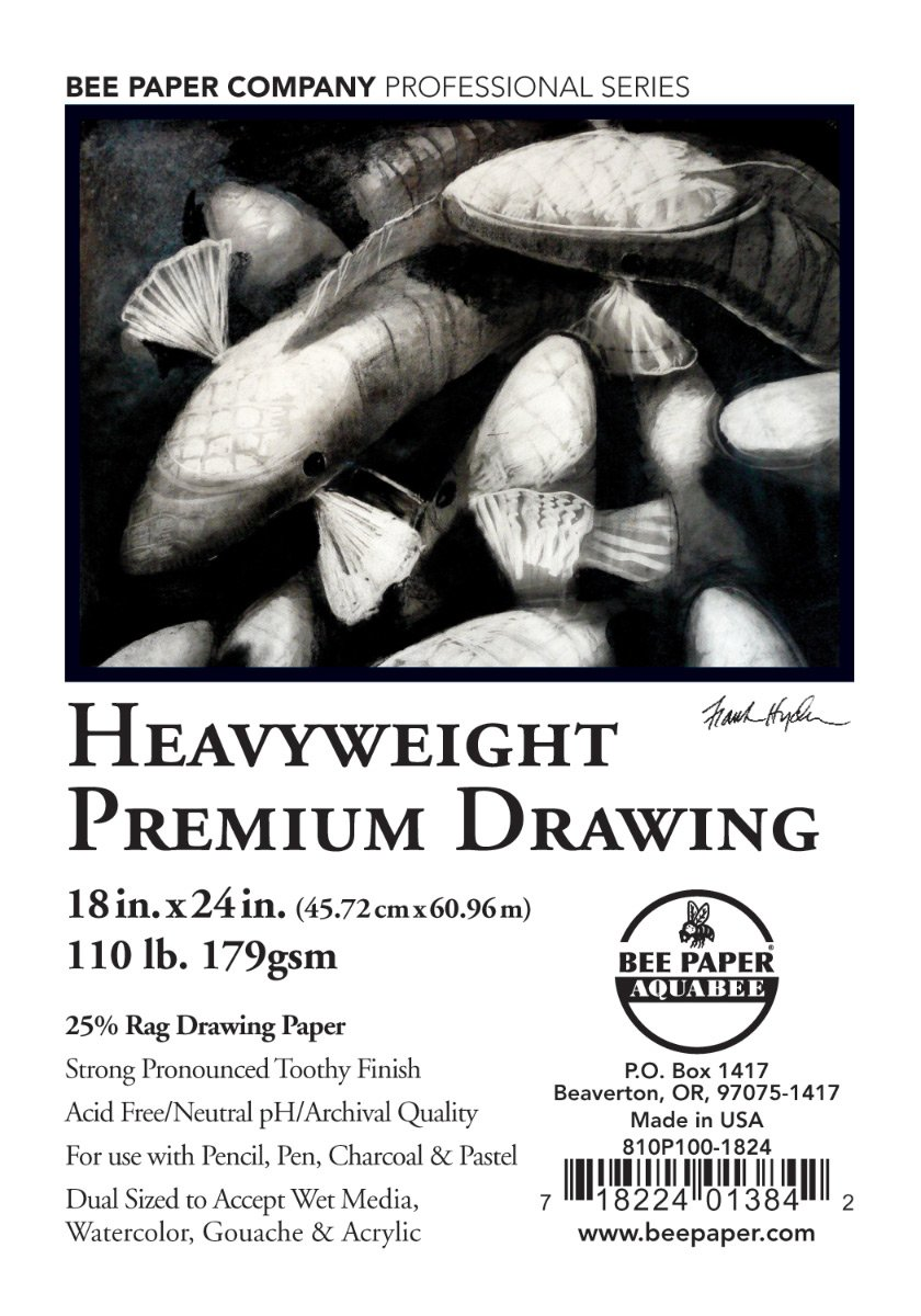 Bee Paper Rag Drawing Paper Pack, 18 x 24, 100 Sheets per Pack
