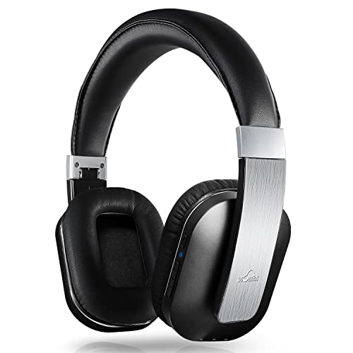 iDeaUSA Bluetooth Headphones, Wireless Stereo Headphones with Built-in Mic, Foldable Over-ear Headphones, Apt-X, Noise Isolation for TV, Apple, Android Devices