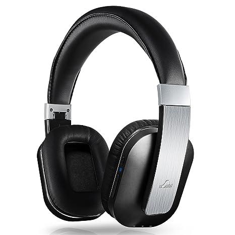 iDeaUSA Cuffie Wireless con Microfono Integrato Cuffia Chiuse Stereo  Pieghevole Bluetooth Auricolari Circumaurali Senza Headphones Over ... a2d7bf652c02