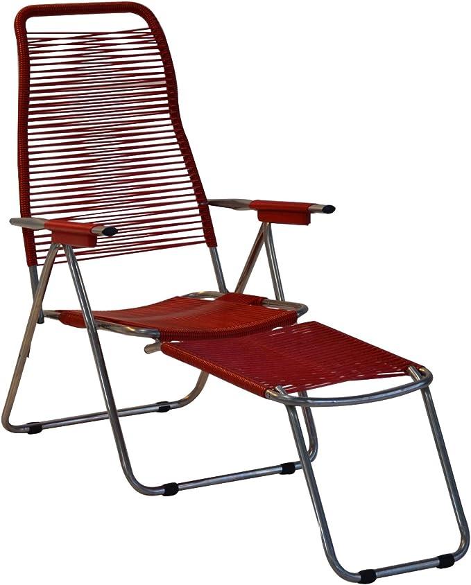 FIAM Spaghetti, Outdoor garden recliner chair, Red: Amazon