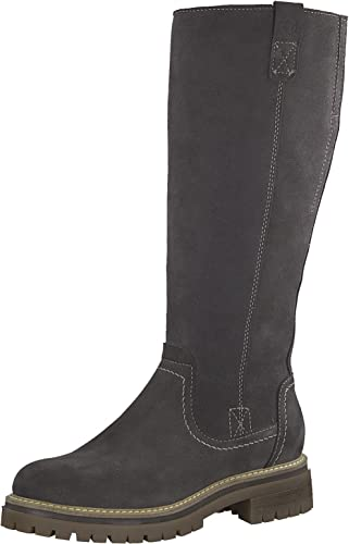 Tamaris Damen Stiefel 26617 21,Frauen Boots,Langschaftstiefel,gefüttert,Reißverschluss,Blockabsatz 3.5cm