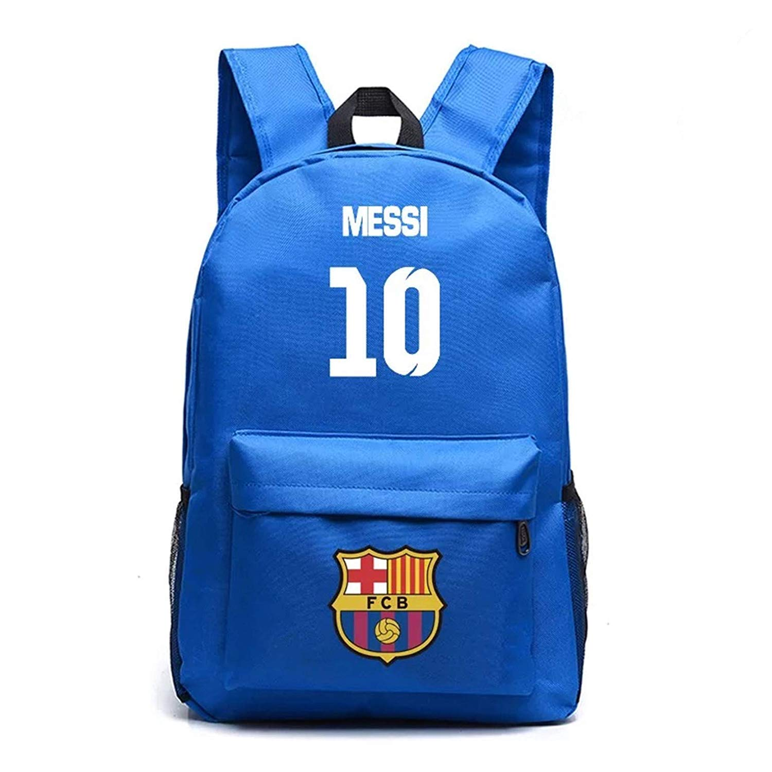 bluee One Size Unisex Messi Luminous Backpack for School Travel Messi Fan
