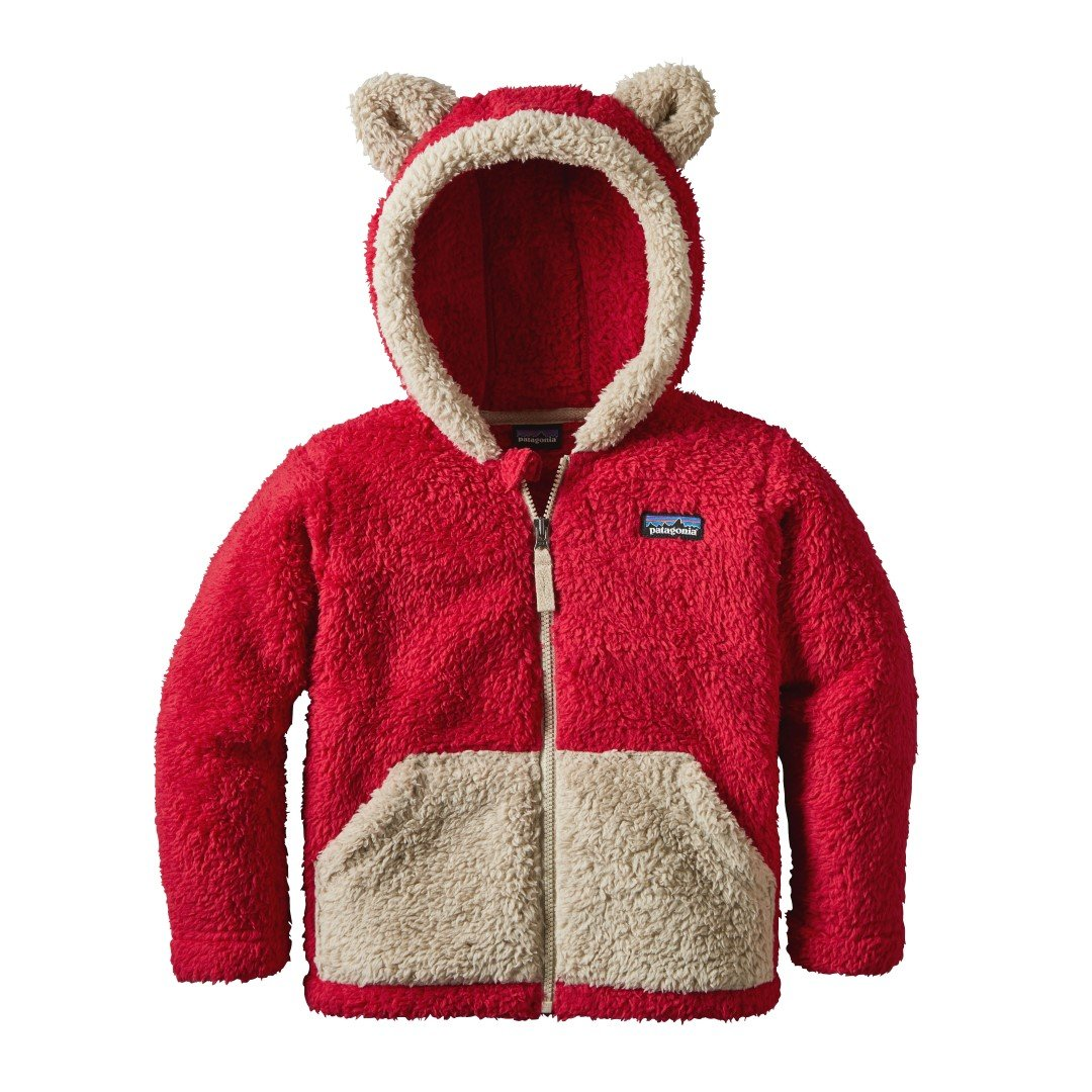 Patagonia Baby Furry Friends Hoody - Baby Girl - Classic Red - 12-18 Months by Patagonia