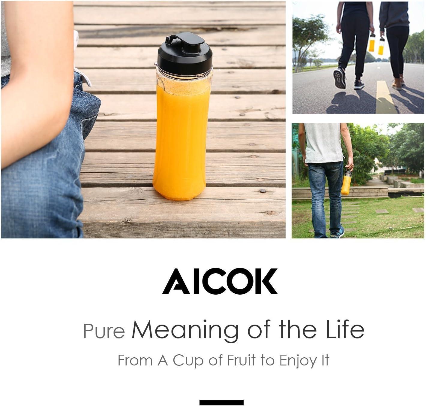 aicok Personal Blender con portátil botella, sin BPA Tritan único ...