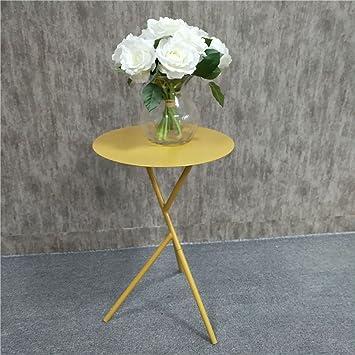 Hongsezhuozi Tische Tee Tisch Couchtisch Eisen Kleine Runde Tisch Nordic  Minimalist Modern Kreativ Beistelltisch Wohnzimmer Sofa