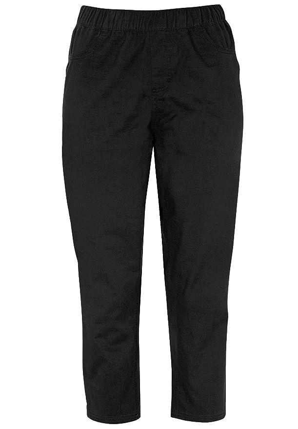 cd9cfa33d7e Ellos Women s Plus Size Stretch Twill Capri Leggings at Amazon Women s  Clothing store