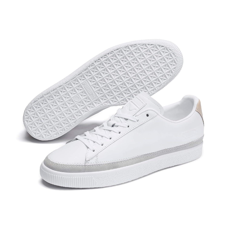 Basket Trim Block White Sneakers