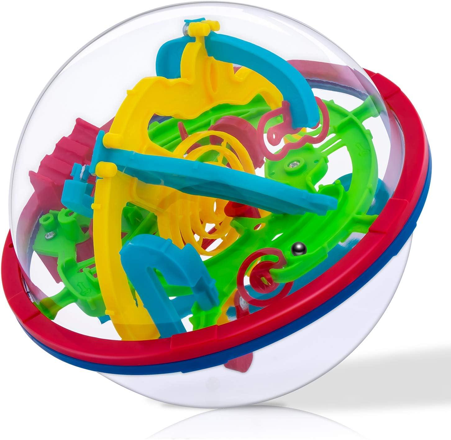 iNeego 3D Laberinto Bola 12cm Pelota Pasatiempos con Laberinto 4.7 ...