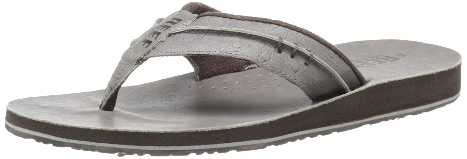 aec9607fb005 Amazon.com  Reef Men s Leather Marbea Thong Sandal  Shoes