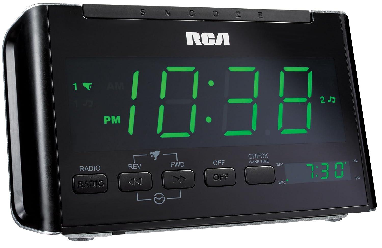 amazon com rca rc40r dual wake clock radio with large green led rh amazon com rca clock radio model rc40-a manual rca clock radio rc40-a manual