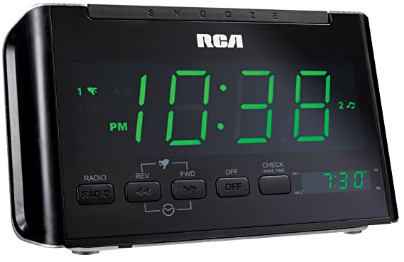 amazon com rca rc40r dual wake clock radio with large green led rh amazon com Old RCA Manuals rca rc40-40a manual