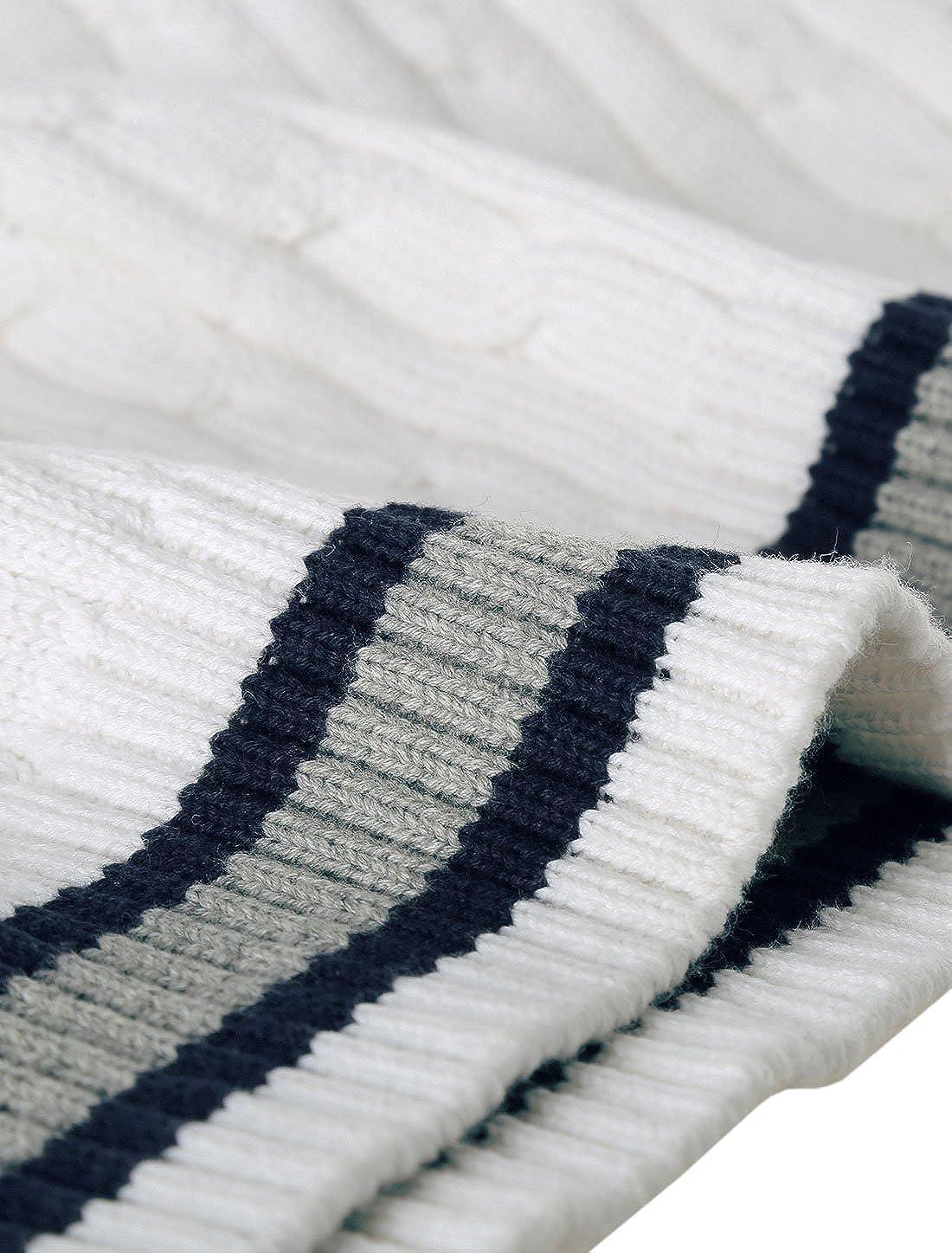 Allegra K Herren V-Ausschnitt Kabel Muster Langarm Pullover Sweatshirt
