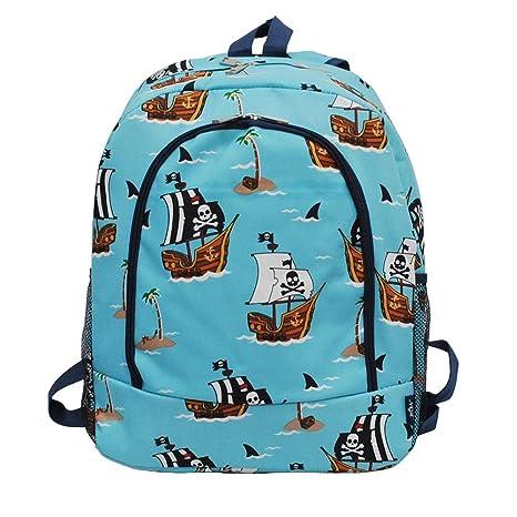 ce4d3afe2e8 Amazon.com | Children's School Backpack 2018 Collection (Pirate Battleship  Navy) | Kids' Backpacks