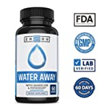 WATER AWAY Herbal Formula for Healthy Fluid Balance - Premium Herbal Blend with Dandelion, Potassium, Green Tea & More - 60 capsules