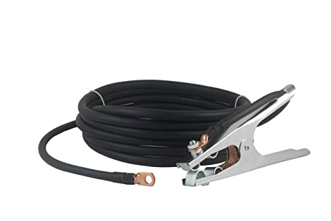 50 FEET Terminal Lug Connector #1 AWG cable 300 Amp Welding Electrode Holder Lead Assembly