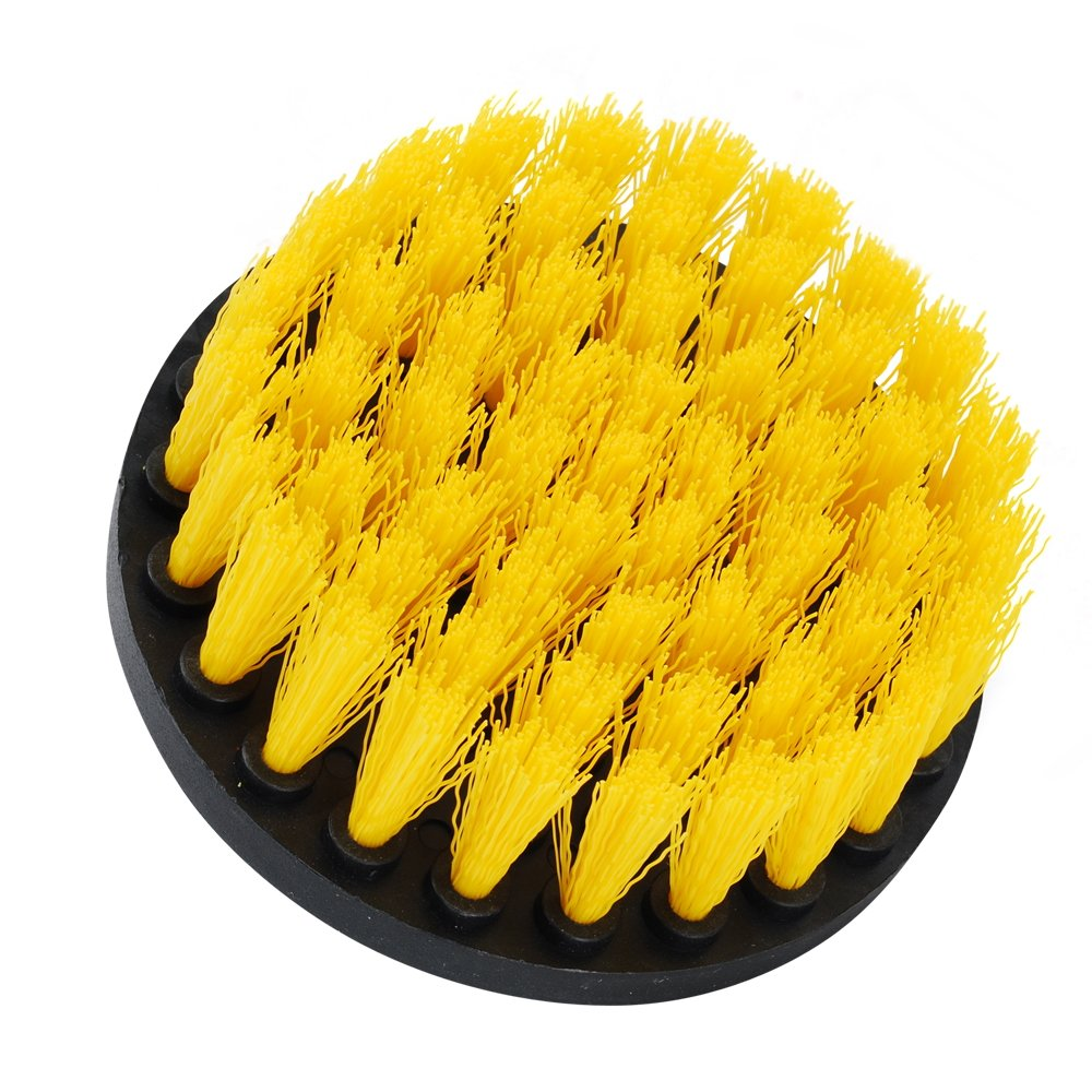 Laundry Room Cleaning Wooden Floor Bathroom Yellow SaferCCTV 5Pcs Combinate Drill Brush-2 3 4 5 Power Scrubbing Brush Drill,Spin Scrubber Electric Cleaning Brush Fixing for Car