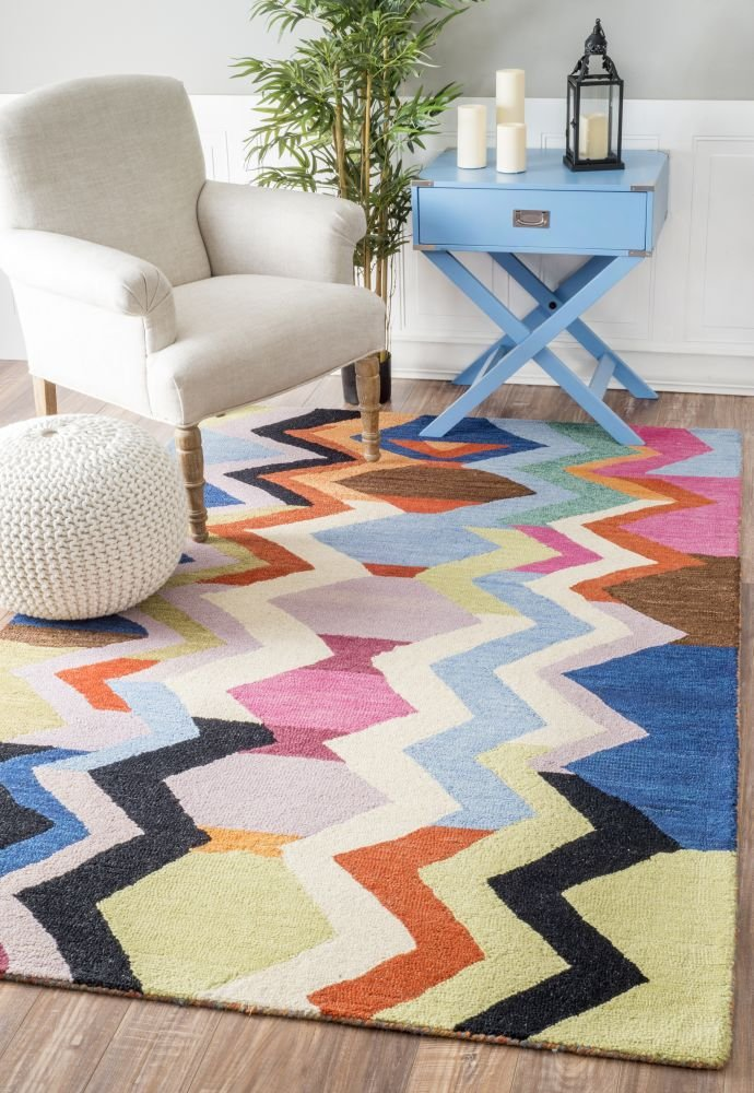 Southwest Wool Rug, 5' x 8', Multi-color by nuLOOM