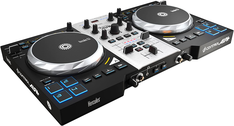 Hercules Air+ S- Controlador de DJ (750 pasos por rotación, 8 pads ...