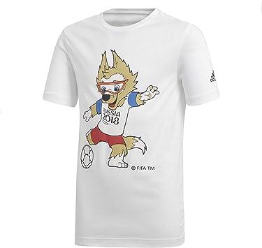 adidas - Camiseta de fútbol para niño, diseño de la Copa del Mundo: Amazon.es: Deportes y aire libre