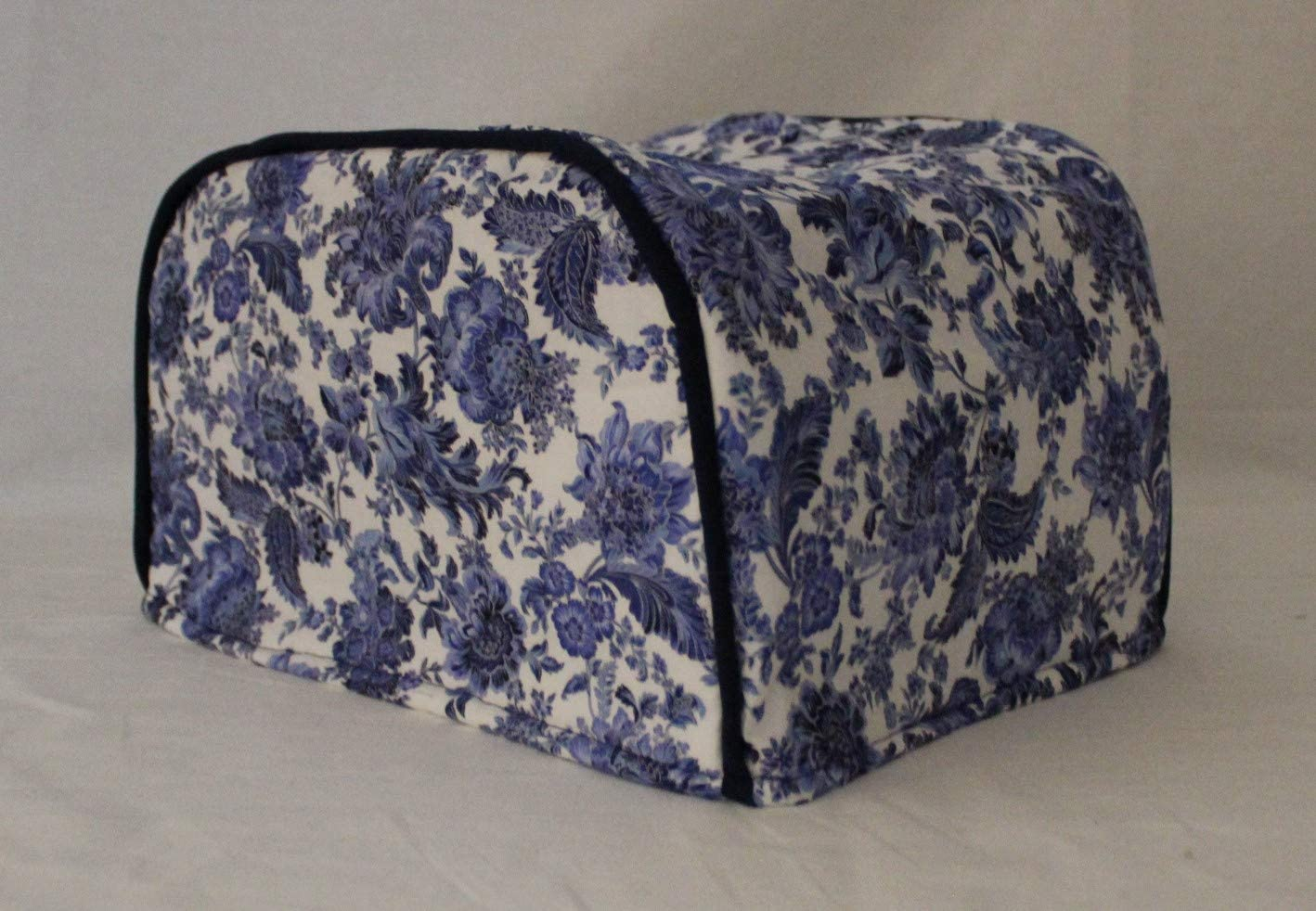 Simple Home Inspirations Blue Floral Toaster Cover (4 Slice Long Slot)
