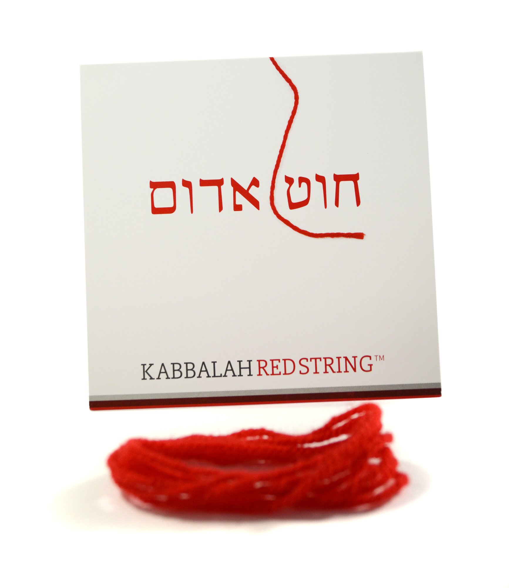 The ORIGINAL Kabbalah String from Israel RED STRING Kabbalah Bracelet Pack - 60 Inch Red String for up to SEVEN Evil Eye Protection Bracelets - Prayer, Blessing & Instructions Included!