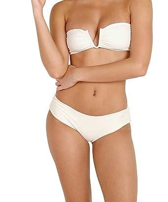 a05c8a4f06 Amazon.com: MIKOH Reunion Bikini Top Bone: Clothing
