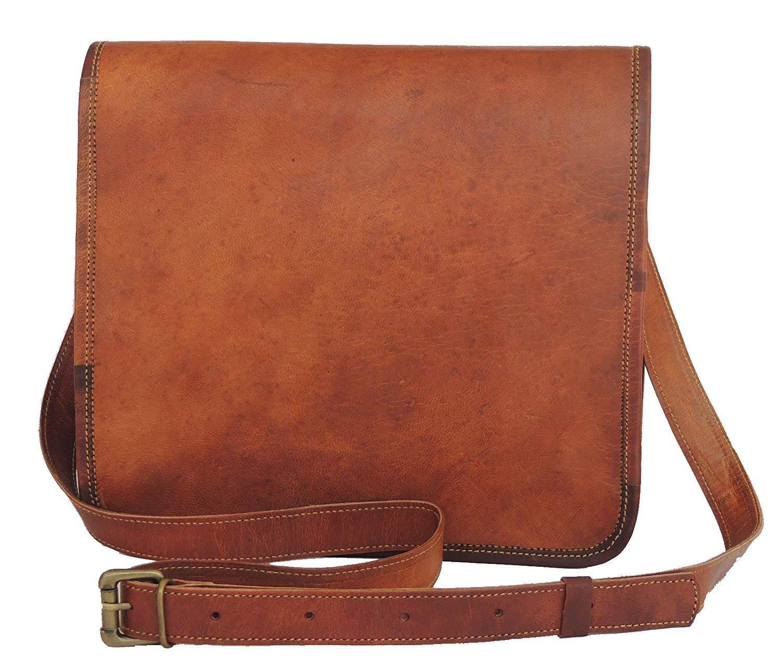 Leather bag Fair Deal / Full flap bag / laptop bag / best computer shoulder briefcase /  Handmade leather bag messenger bag for I pad / brown bag  by Fair Deal (Image #1)