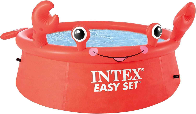 INTEX piscina hinchable para niños con forma de cangrejo