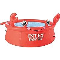 Intex 55235 - Piscina hinchable para niños a partir de 3 años, con diseño cangrejo, 183x51 cm, 880…
