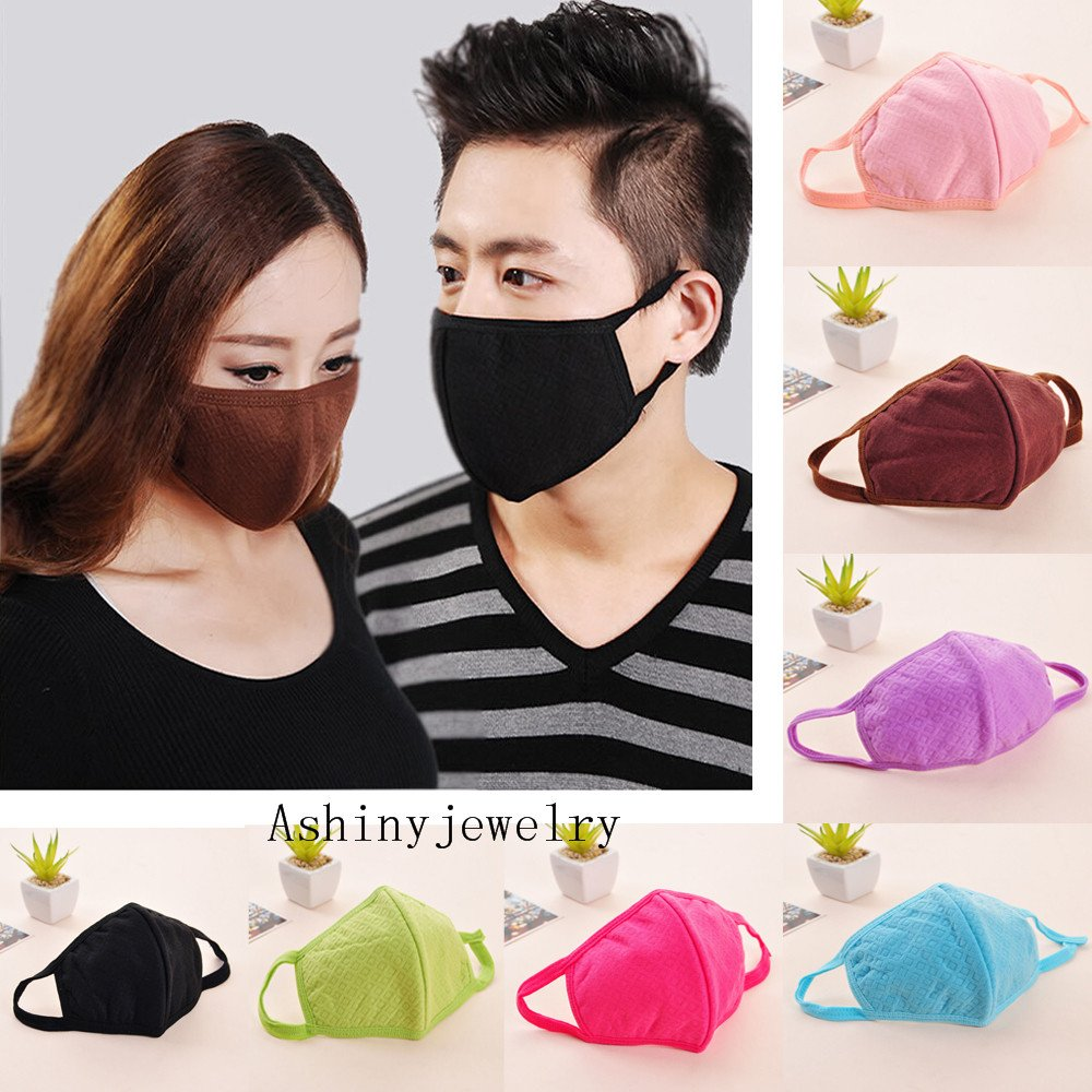 5pcs Luxury New Unisex Men Women Cycling Anti-dust Cotton Mouth Face Mask (black) by Sinlifu (Image #4)