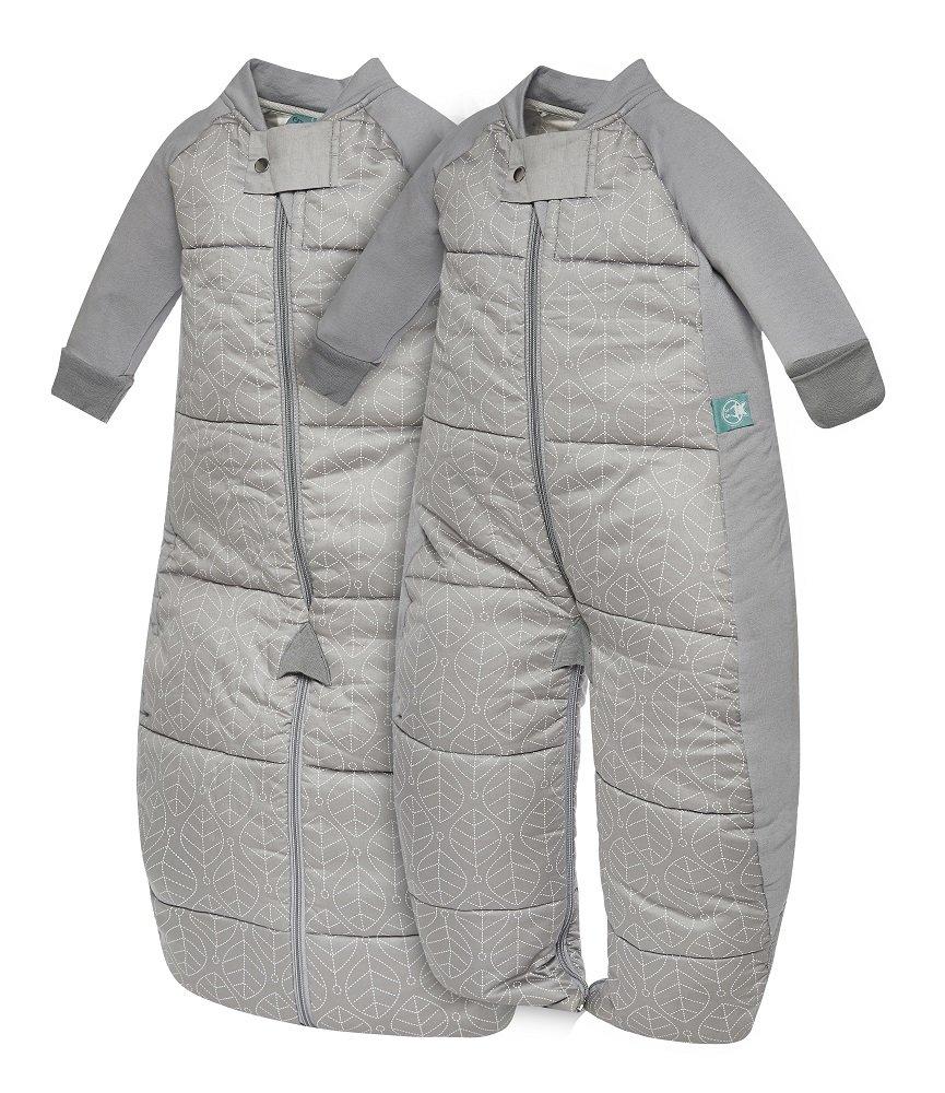 ergoPouch 2in1, warmer Baby Schlafsack & Ganzkörperanzug in Grau, 12-36 Monate