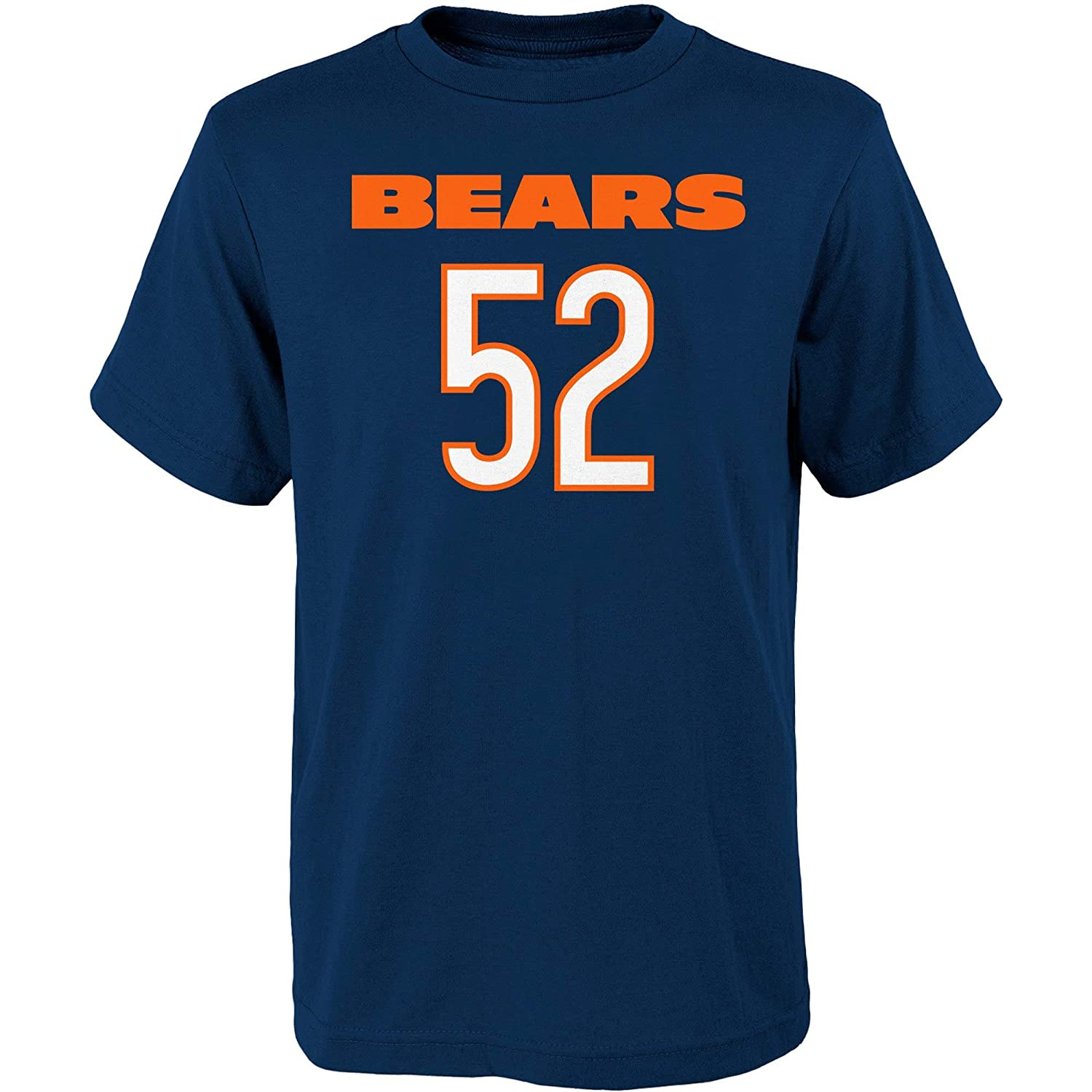 super popular ffaa4 33bbb Outerstuff Khalil Mack Chicago Bears NFL Apparel Youth 8-20 Navy Mainliner  Player Name & Number T-Shirt