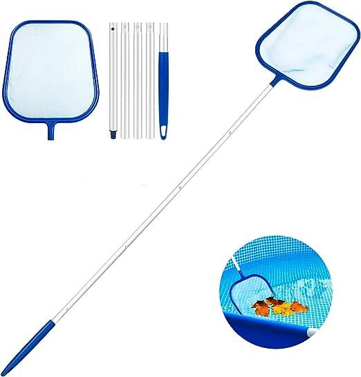 Familybox Red de Piscina Kit, Skimmer Recoge Hojas Recogehojas para Pisina con Barra telescópica de Aluminio Desmontable de Limpieza Kit de Mantenimiento para Piscinas (Skimmer Piscina Desnatadora): Amazon.es: Jardín