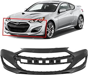 MBI AUTO - Primered, Front Bumper Cover for 2013-2015 Hyundai Genesis Coupe 2 Door 13-15, HY1000197