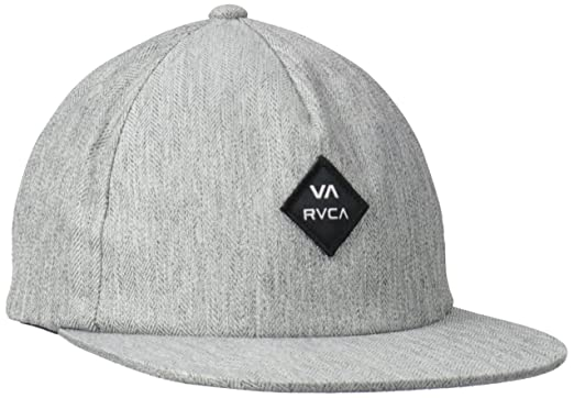 085cdba0 Amazon.com: RVCA Men's Sile Five Panel Hat, Heather Grey, One Size ...