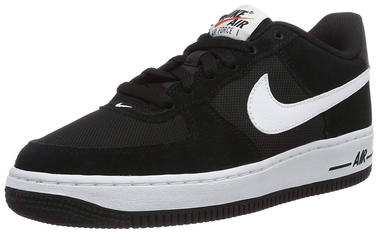 2bc596fb1372b Amazon.com | Nike Youth Air Force 1 (GS) Boys Basketball Shoes Black/White  596728-026 Size 6 | Basketball