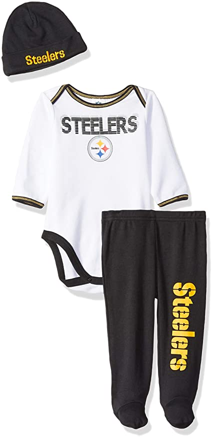 500a3d47 Image Unavailable. Image not available for. Color: NFL Pittsburgh Steelers  Unisex-Baby Bodysuit ...