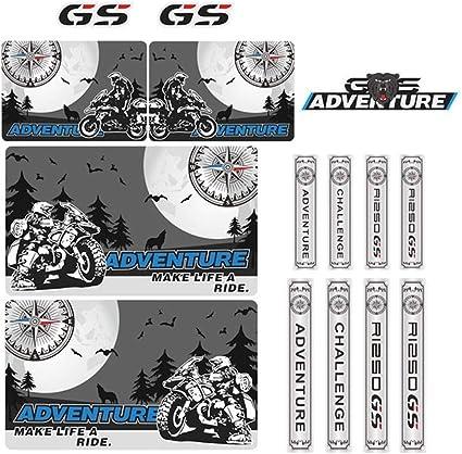 Gzsc R1250 R 1250 Gs Motorrad Aufkleber For R1250gs Tankpad Side Panel Schutz Kotflügel Vorne Nase Verkleidungs Schnabel Adv Abenteuer Color Champagne Garten